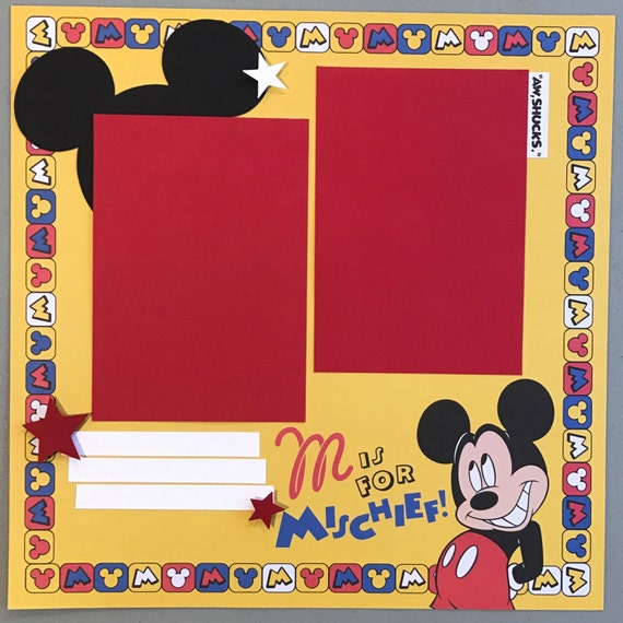 Minnie Mouse Scrapbook Page Minnie Mouse Birthday Premade Minnie