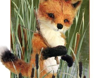 Fox Sewing Pattern, Plush Fox, Realistic Fox PDF, DIY Fox Pattern, Teddy Bear Pattern, Red Fox Plushie, DIY Stuffed Animal, Woodland