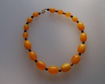 Butterscotch Bakelite Necklace