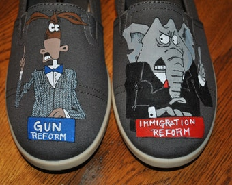For Sale New Hand Painted Design for Political Humor 9.5 . READY TO SHIP