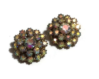 Gorgeous Vintage AB Clip Earrings