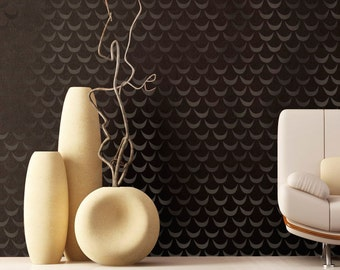 Wall Pattern Stencil African Wave Allover Stencil for Wall Decor and More