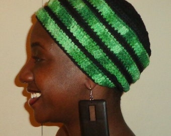 Watch Your Green Tone with Me, Crochet African Headwrap