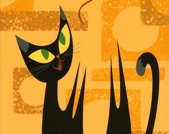 Cat Series: Yarn - Print