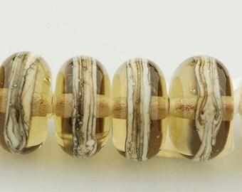 Glass Bead Set / Handmade Beads / Lampwork Bead Set / Brown Beads / beadsbylara / Lara Lutrick