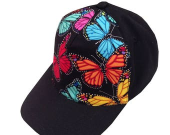 Black Butterfly Ball Cap/Toddler Size