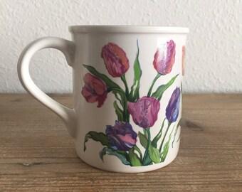 Vintage 1992 Creative Concepts Tulip Mug Christina Tulips Mug