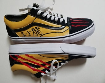 Bruce Lee Customs Painted old Skool Vans