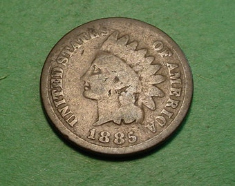 1885 Indian Head Cent Good <> The Coin you see is the coin you get <> Free S.H. to U.S.<>  <>ET0015