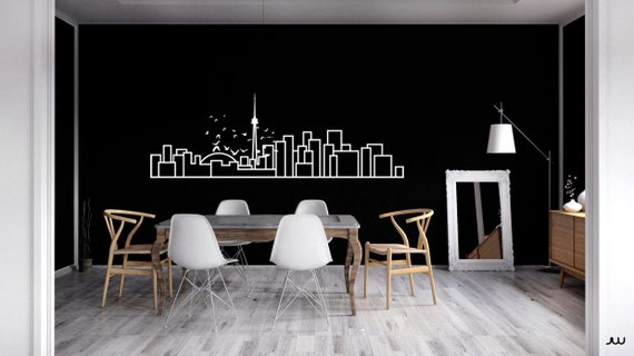 Toronto skyline wall decal decorative wall sticker for