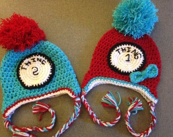 Thing one or Thing Two hats