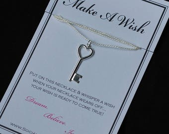Heart Key Wish Necklace - Buy 3 Items, Get 1 Free