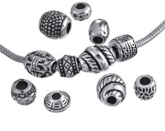 25 large ethnic style acrylic beads