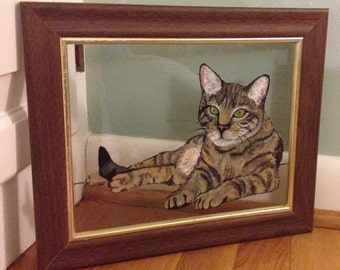 Hand Painted Acrylic Pet on Glass