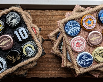 Bottle Cap Coasters (Set of 4)