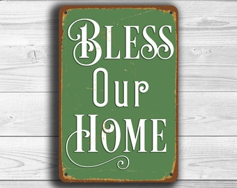 BLESS OUR HOME Sign, Bless Our Home Signs, Vintage style Bless Our Home signs, Bless This Home, Bless Our Nest, Home Decor, Home Wall Sign