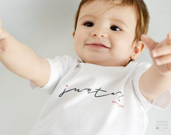 "Baby custom t-shirt ""Together since..."", short sleeve tee, baby tee, kids clothes, child gift, mom gift"