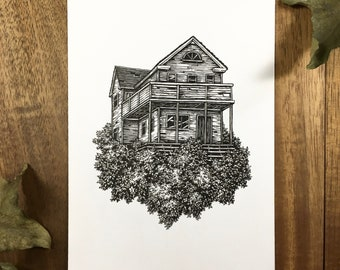 Derelict House | Original Drawing