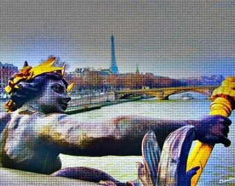 Paris bridges of the Seine, photography, travel