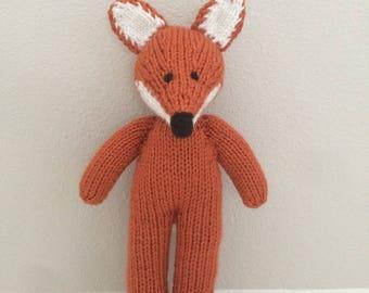 Fox - Knitted Fox - Stuffed Animal - Soft Toy - Fox Soft Toy - Stuffed Toy - Handmade Toy