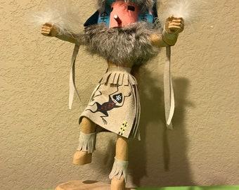 "Kachina Doll ""Butterfly Dancer"" by Navajo Artist E. Woody"