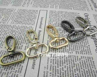 10 pcs Swivel Clasps Purse Clips Bag Hooks 2.5cm or 1 inch