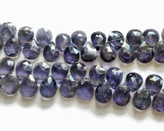 Iolite faceted briolettes.  Approx. 5.5x7-7.25mm.  Select a quantity.