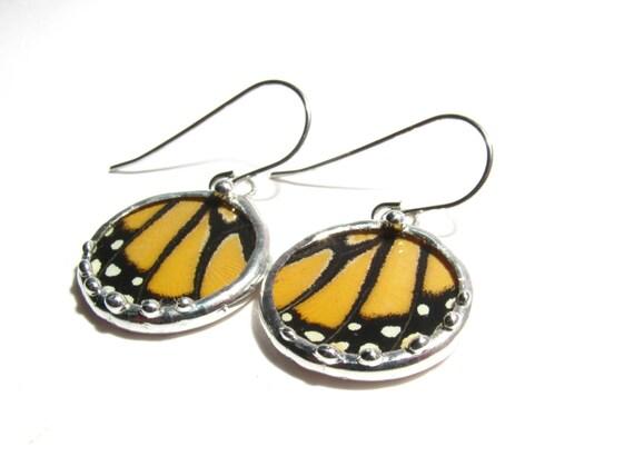 Monarch Butterfly - Real Monarch Butterfly Wing Jewelry