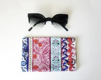 Eyeglasses Soft Case in Boho Print, Gift Idea, Ready to ship