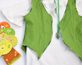 Leaf Vest, Peter Pan, Boys Costume, Birthday Gift, Toddler Costume, Dress Up, Gift Under 30, Lost Boy, Halloween Costume, Ready to Ship