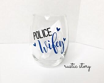 Police Wifey mug /Wine glass
