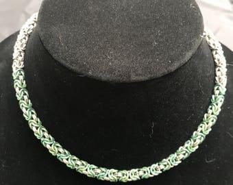 Byzantine Necklace with Niobium Highlights