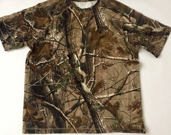 Camouflage Woods Thick T-Shirt  Camo Real Tree
