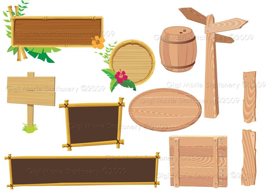 digital instant download wooden signs clip art wooden rh etsy com blank wood sign clipart wood signboard clipart
