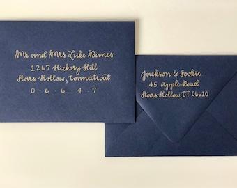 Custom Hand Lettered Envelope Addressing-Calligraphy-Calligraphy Envelopes-Wedding Envelope Calligraphy