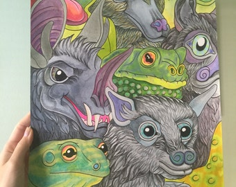 Bat Frog Cram - Original piece by Matt Furie and Aiyana Udesen