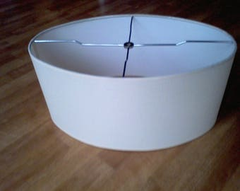 Mid century Lamp Shade  Oval Replacement lamp shade, off white, Mid Century Modern