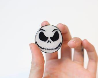 Jack Skellington Inspired Pin or Magnet