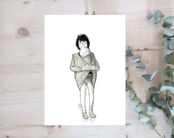 Poster - Woman with baby - ink series - Limited Edition