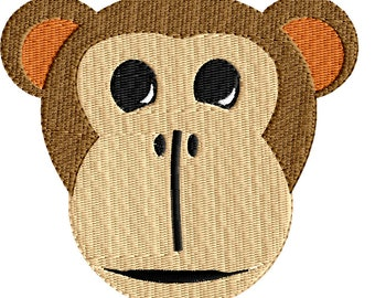 Embroidery Design For Machine Embroidery Monkey Face