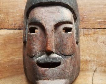 Wooden Mexican Tribal Mask, Wooden Masks, Antique Tribal Art, Folk Art, Mexican Art