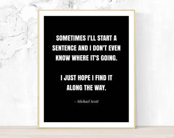 wall art for office. The Office Wall Art, Quote, Michael Scott Inspirational Art For