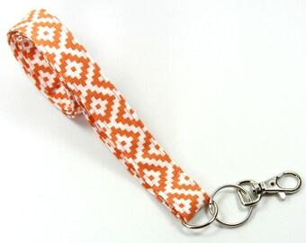 ORANGE Fabric lanyard, Orange Badge Holder, Orange Lanyard