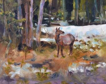 CUSTOM FRAMED Yellowstone I, original oil painting