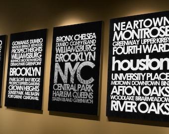Houston subway canvas or print, cheap art, custom design your own