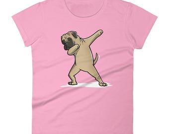 Funny Dabbing Bullmastiff Shirt, Cute Dab Dance Dog Gift, Bullmastiff Women's T-Shirt