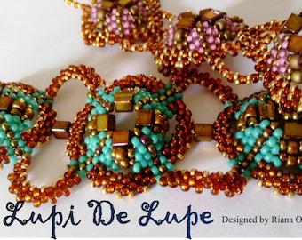 Peyote stitch, Beading pattern, Peyote stitch  bracelet pattern,  Lupi De Lupe