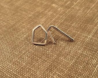 Tiny Outline Post Earrings