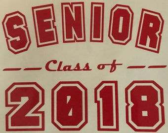 Senior class of 2018 decal