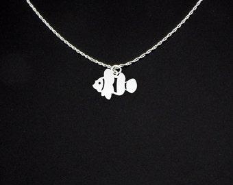 Clown Fish Necklace - Clown Fish Jewelry - Clown Fish Gift